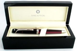 Sheaffer Valor Ballpoint Pen in Polished Burgundy with Palladium Plate Trim